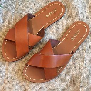 J. Crew Cyprus Leather Sandals